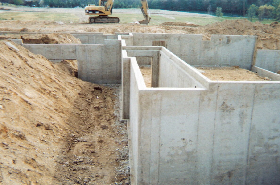 Basement basement excavation for Basement foundation construction